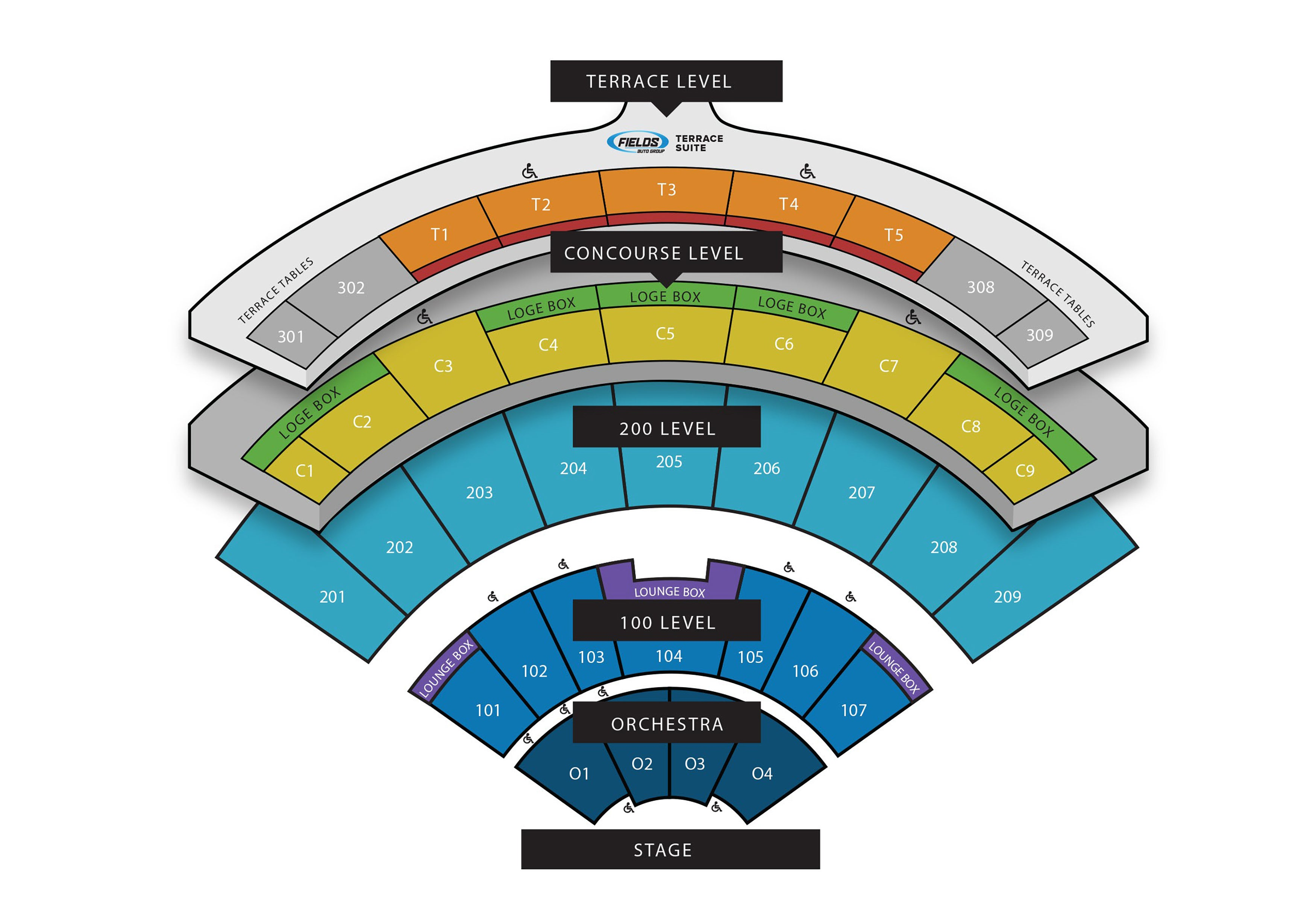 Seating Chart Dailys Place